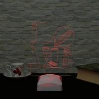 Dekorjinal 3 Boyutlu Love Lamba V23D020
