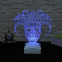 Dekorjinal 3 Boyutlu Venedik Maskesi Lamba V23D182