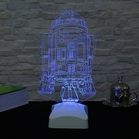 Dekorjinal 3 Boyutlu C 3PO Starwars Lamba V23D145