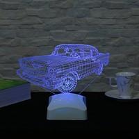Dekorjinal 3 Boyutlu Klasik Araba Lamba V23D079