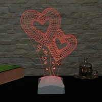 Dekorjinal 3 Boyutlu Kalp Lamba V23D205