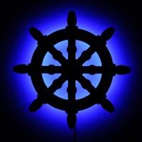 Dekorjinal Gölge Lamba Gemi Dümeni sembolü GLMB003