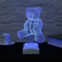 Dekorjinal 3 Boyutlu Teddy Ayıcık Lamba V23D044