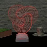 Dekorjinal 3 Boyutlu Spiral Geometrik Lamba V23D006