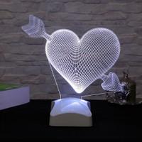 Dekorjinal 3 Boyutlu Oklu Kalp Lamba V23D091