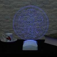 Dekorjinal 3 Boyutlu Hüve'l Bâkî O (Allah) ebediyen bâkîdir Lamba V23D123