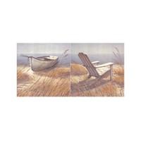 ARTİKEL Beach Side 2 Parça Kanvas Tablo 80x40 cm KS-351