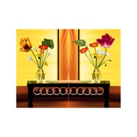ARTİKEL Floral Song 2 Parça Kanvas Tablo 80x100 cm KS-404