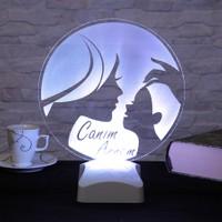 Dekorjinal Anneler Günü 3 Boyutlu Lamba ANNE3D003