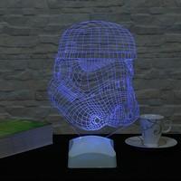 Dekorjinal 3 Boyutlu Stormtrooper 3 Star wars Lamba V23D142