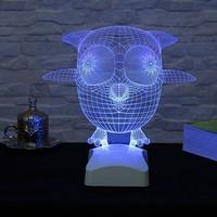 Dekorjinal 3 Boyutlu Sersem Kuş Lamba V23D066