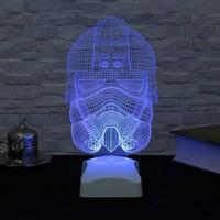 Dekorjinal 3 Boyutlu Stormtrooper 2 starwars Lamba V23D146