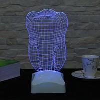 Dekorjinal 3 Boyutlu Diş Lamba V23D139