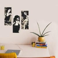Dekorjinal Kadınlar Dekoratif 3'lü MDF Tablo -XTP012