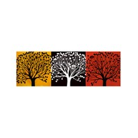 ARTİKEL Three Colours Tree 3 Parça Kanvas Tablo 40X120 Cm KS-724