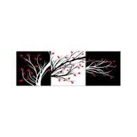 ARTİKEL Red Buds 3 Parça Kanvas Tablo 40X120 Cm KS-772
