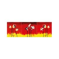 ARTİKEL Flower In Red 3 Parça Kanvas Tablo 40X120 Cm KS-728