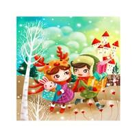 ARTİKEL Happy Friend 4 Parça Kanvas Tablo 70x70 cm KS-542