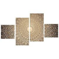 Tictac Design Desen 4 Parça Kanvas Tablo 109
