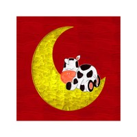 ARTİKEL Sleepin Cow 4 Parça Kanvas Tablo 70x70 cm KS-224