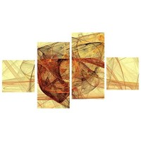 Tictac Design 4 Parça Kanvas Tablo Soyut
