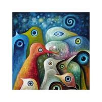 ARTİKEL Surreal Ducks 4 Parça Kanvas Tablo 70x70 cm KS-209