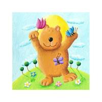 ARTİKEL Hello Bear 4 Parça Kanvas Tablo 70x70 cm KS-459