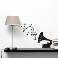 Dekorjinal Müzikal Duvar Sticker CST030