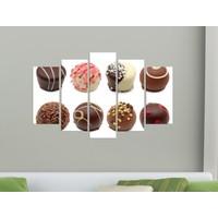 K Dekorasyon Chocolate 5 Parçalı Mdf Tablo KM-5P 2283