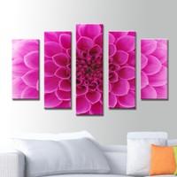 K Dekorasyon Çiçek 5 Parçalı Mdf Tablo KM5P1759