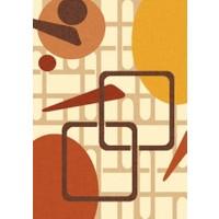 Confetti Confetti Aydın Kızıl Kahve Halı   57 x 90 cm