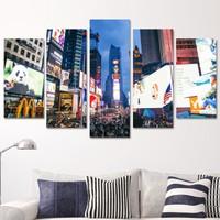 K Dekorasyon Renkli 5 Parçalı Mdf Tablo KM5P1715