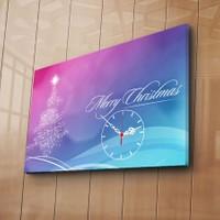 Özgül Grup Kanvas Saat - Happy Christmas
