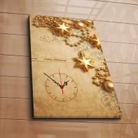 Özgül Grup Kanvas Saat - Gold Yıldızlar