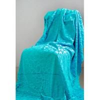 Special Home Special Home Tay Tüyü Koltuk Örtüsü / Şalı - 14 Farklı Renk Seçeneğiyle   Turkuaz
