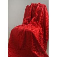 Special Home Special Home Tay Tüyü Koltuk Örtüsü / Şalı - 14 Farklı Renk Seçeneğiyle   Kırmızı