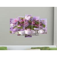 K Dekorasyon Çiçekler 5 Parçalı Mdf Tablo KM-5P 2034