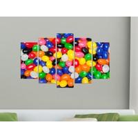 K Dekorasyon Renkli Şekerler 5 Parçalı Mdf Tablo KM-5P 2275