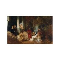 ARTİKEL Hans Makart 5 Parça Kanvas Tablo 135x85 cm KS-443