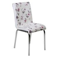 Kristal Masa 4 lü Monopetli Sandalye - Lila Çiçekli