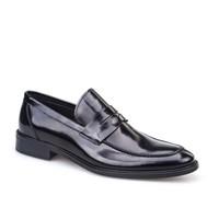 Cabani Kemerli Erkek Ayakkabı Siyah Açma Deri