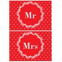 Cushion Design Sevgililer Mr & Mrs Amerikan Servis