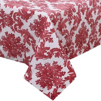 Aliz Masa Örtüsü Kırmızı Damask - 140x170 cm