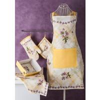 Noble Life Kamelya Desen 5 Parça Tekstil Mutfak Seti
