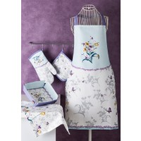 Noble Life İris Desen 5 Parça Tekstil Mutfak Seti