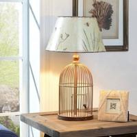 Evlina Home Metal Kuş Kafesi Gövdeli Masa Lambası
