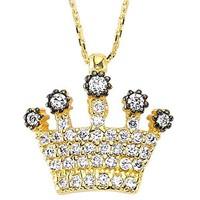 Bilezikhane Kraliçe Tacı Kolye 2,70 Gram 14 Ayar Altın