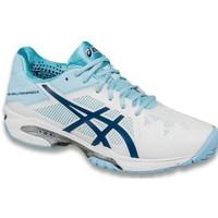 Asics Gel Solution Speed 3 W White blue steel kadın tenis ayakkabısı