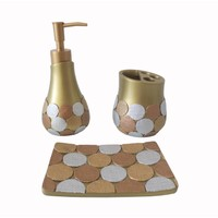 Bosphorus Altın Büyük Puanlı Banyo Set
