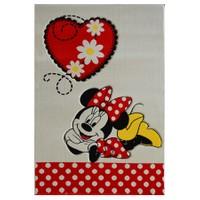 Poypoy Minnie Bej Kırmızı Çocuk Halısı - 120 x 180 cm